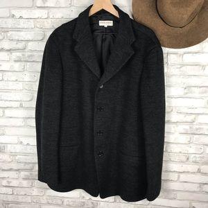 Giorgio Armani black woven Blazer size 44
